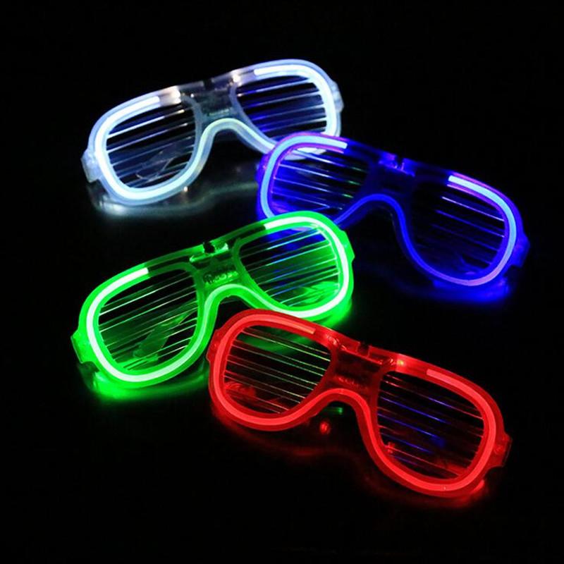 очки жалюзи со светодиодами